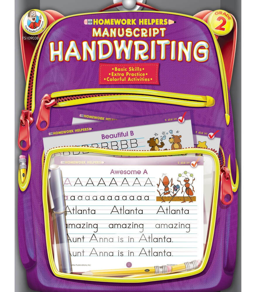 Homework Helper Manuscript Handwriting Workbook Product Image
