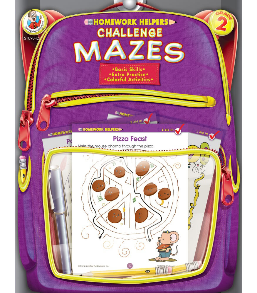 Homework Helper Challenge Mazes Activity Book Product Image