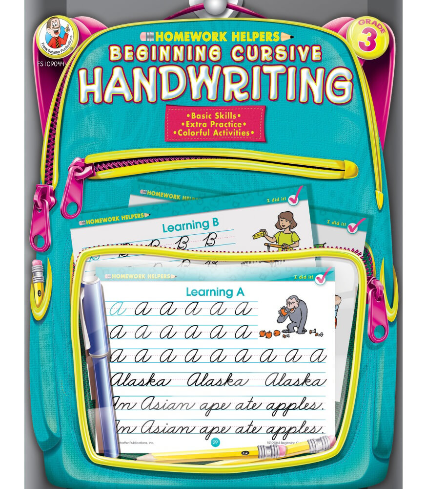 Homework Helper Beginning Cursive Handwriting Workbook Product Image