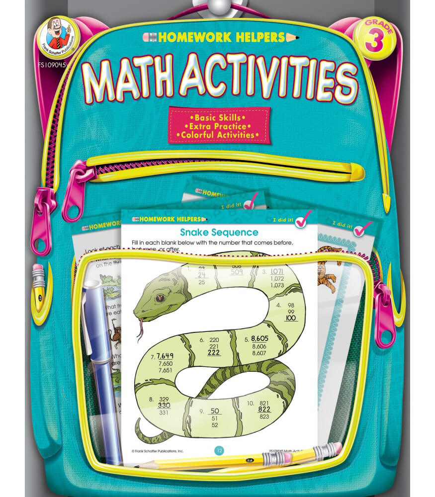 Math Activities Workbook Grade 3