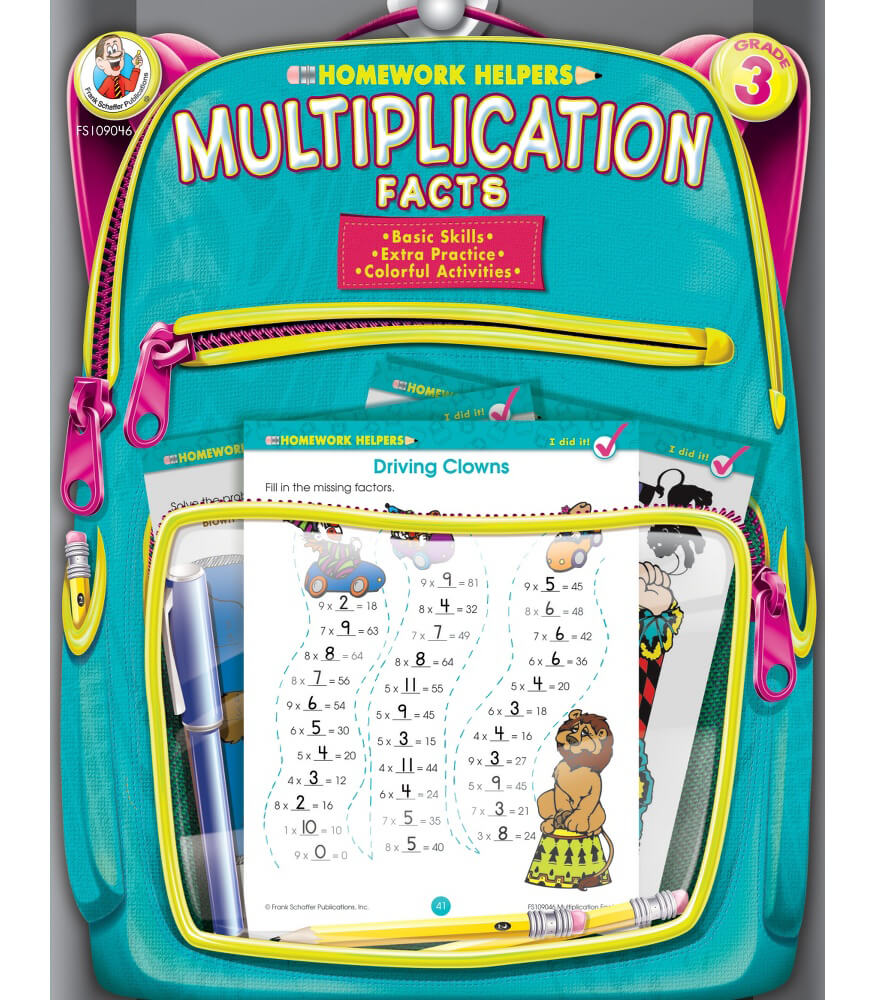 Multiplication Facts Workbook Grade 3