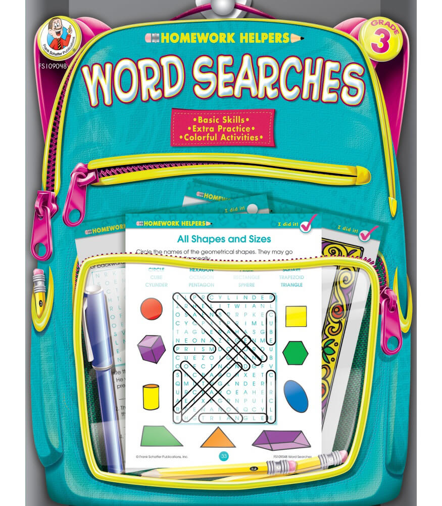 Homework Helper Word Searches Activity Book Product Image