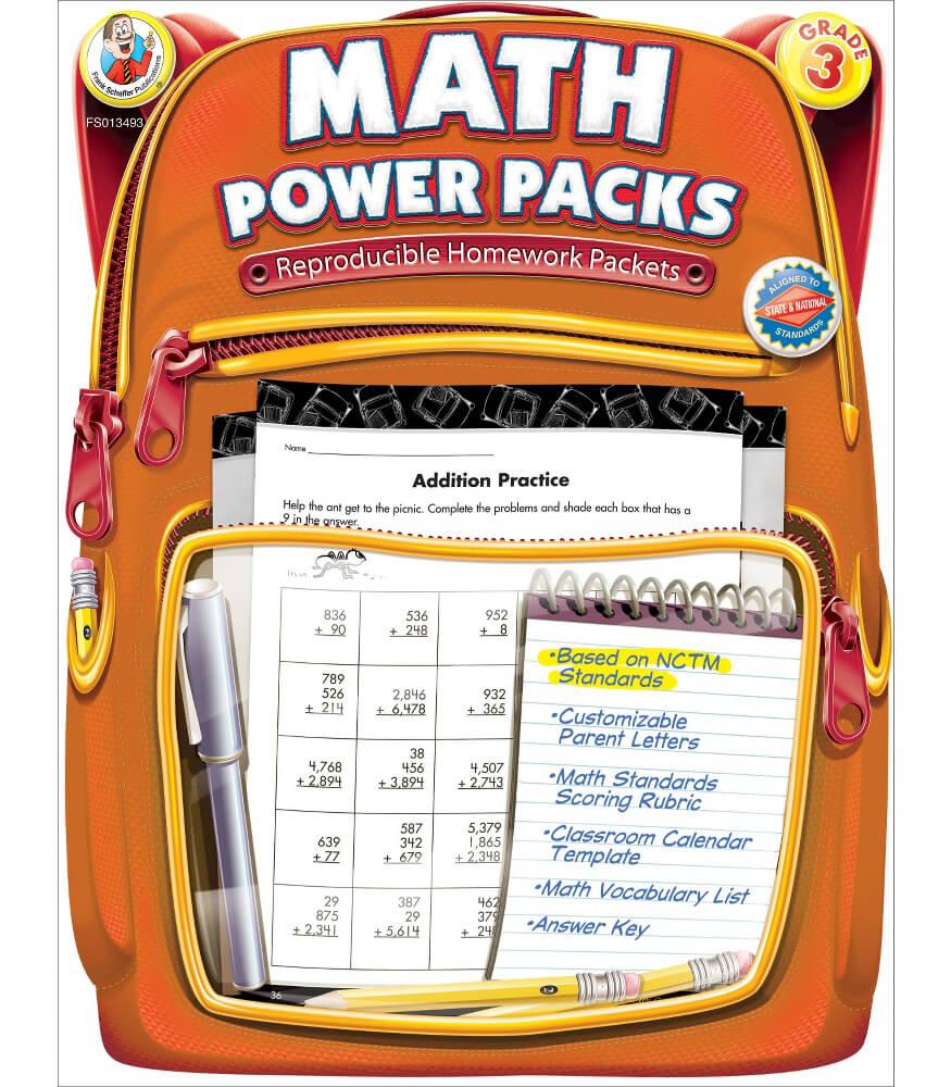 Workbooks grade 3 math workbook : Math Power Packs Workbook Grade 3 | Carson-Dellosa Publishing