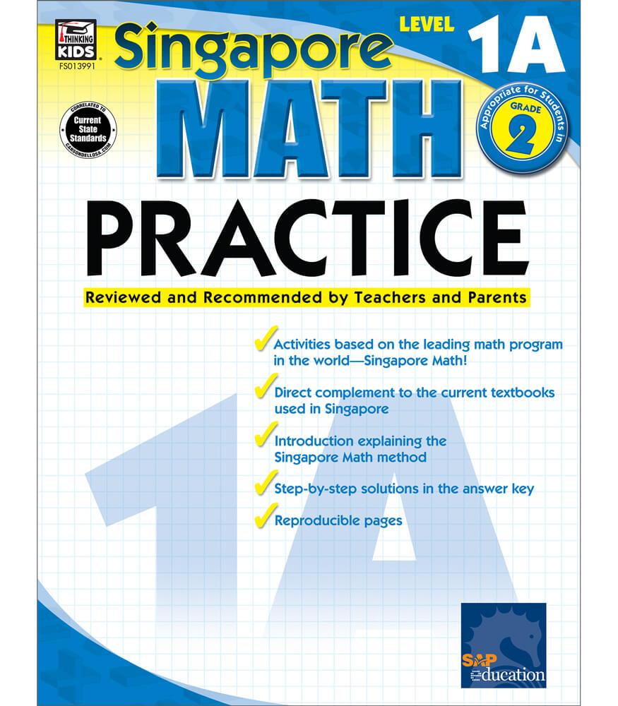 Singapore Math Level 1A Math Practice  Workbook Product Image
