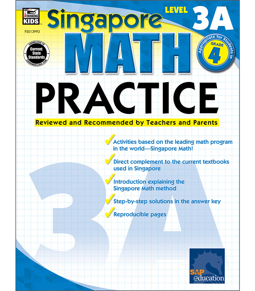 Singapore Math Level 3A Math Practice  Workbook Product Image