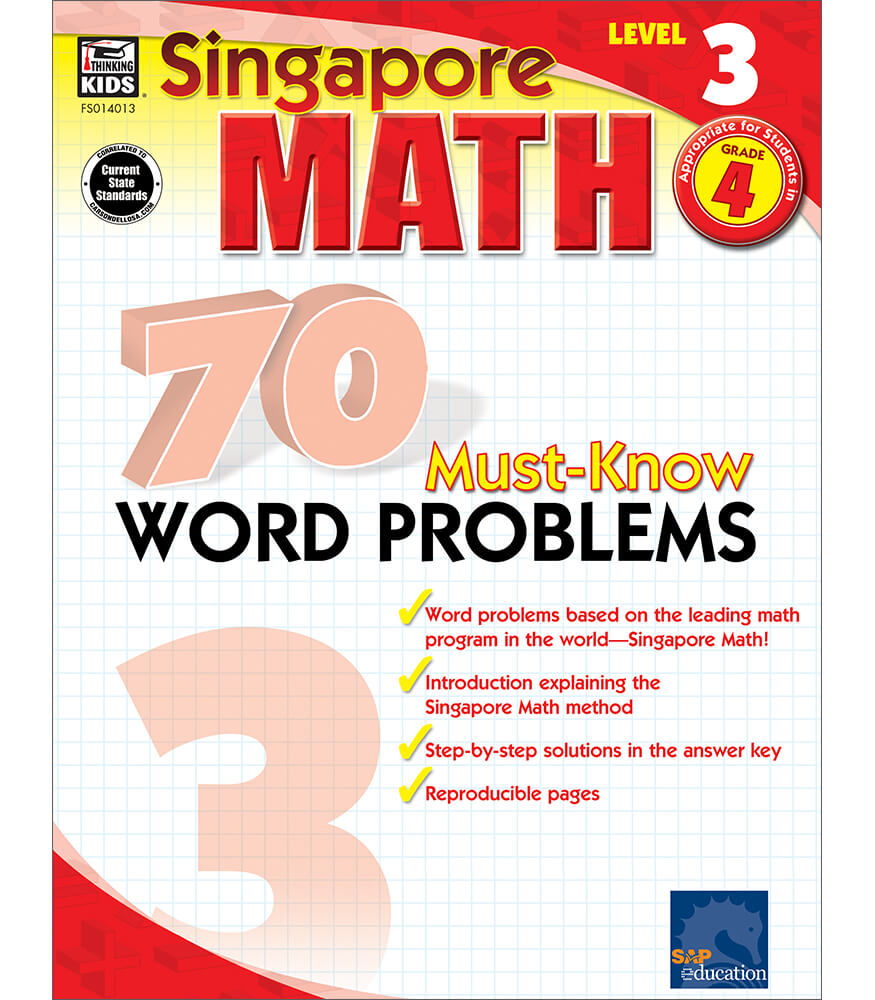 70 Must-Know Word Problems Workbook Product Image