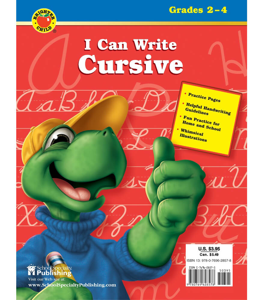 I Can Write Cursive Workbook Product Image