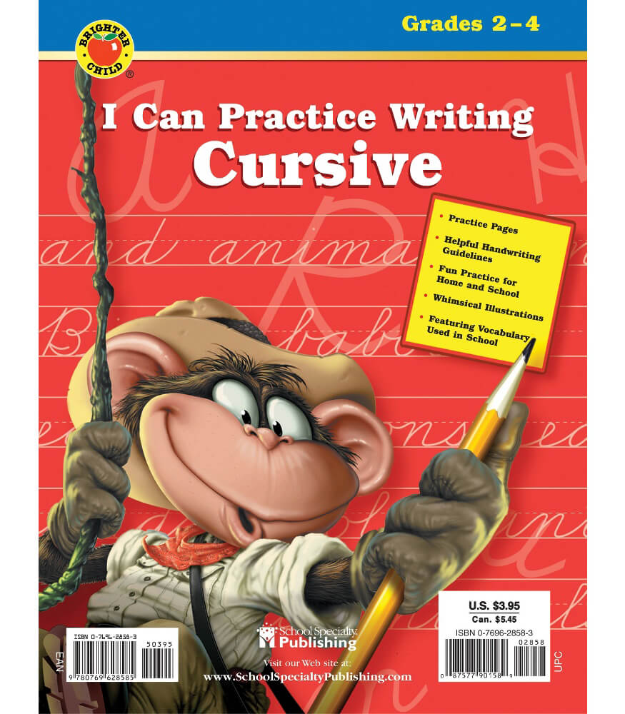 I Can Practice Writing Cursive Workbook Product Image