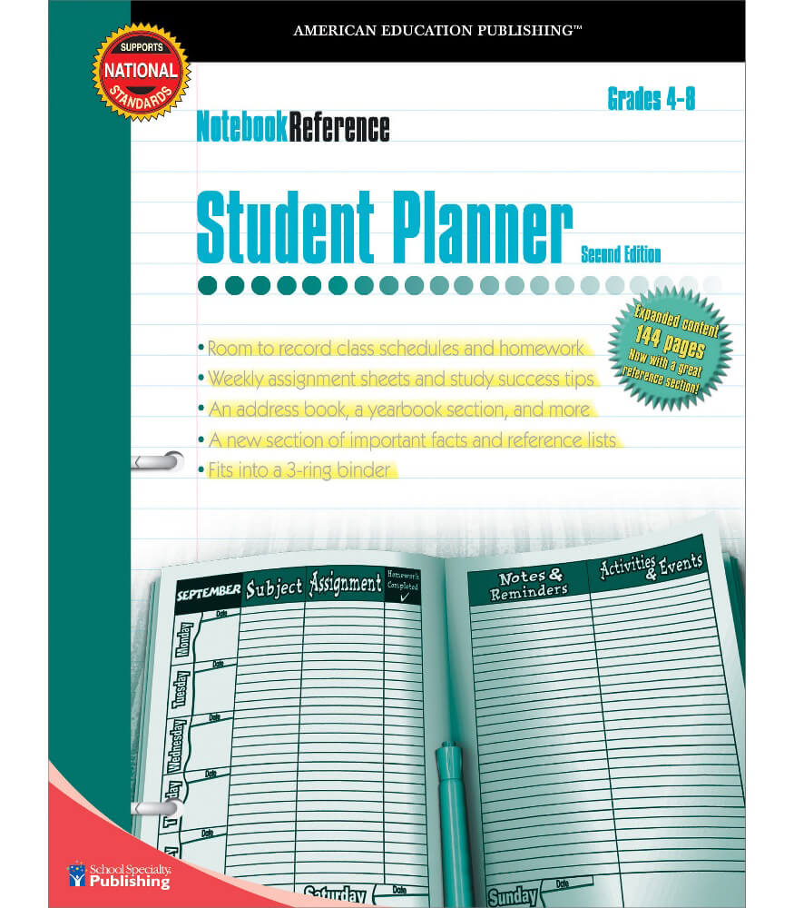 Student Planner Workbook Product Image