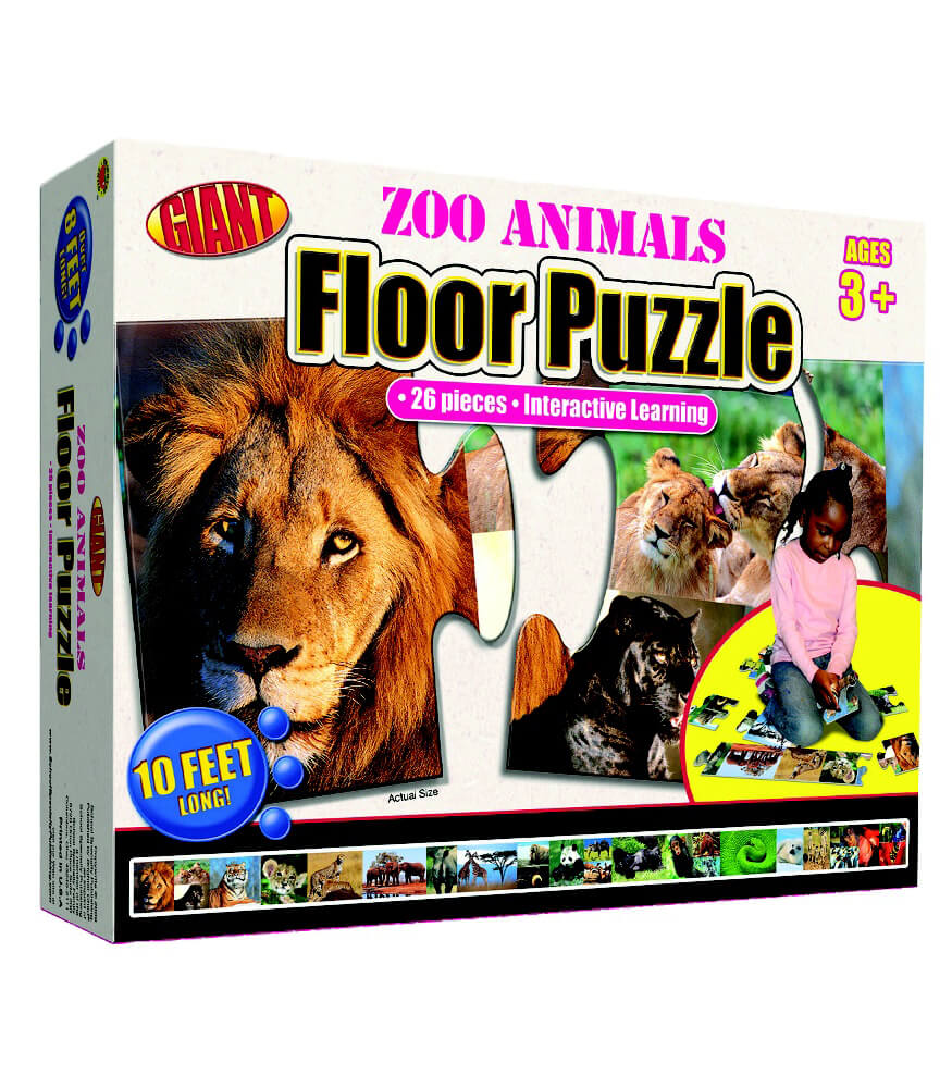 Zoo Animals Floor Puzzle Floor Puzzle