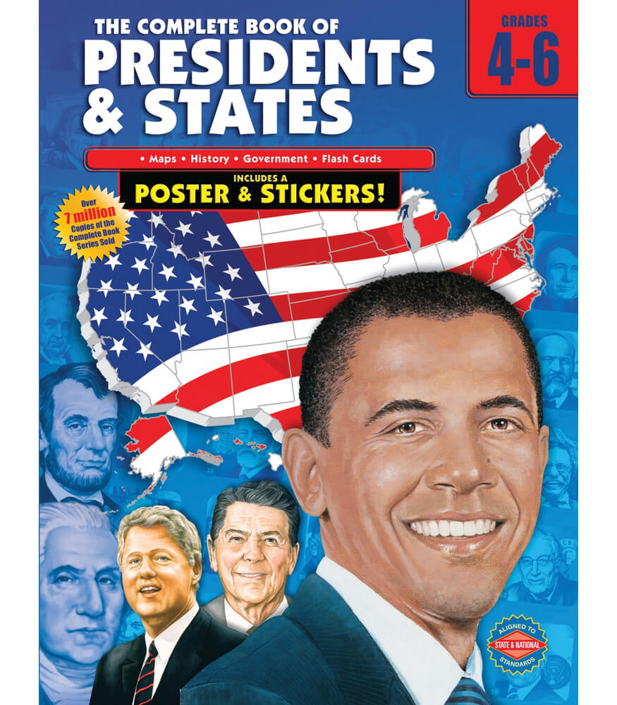 The Complete Book of Presidents & States Workbook Product Image