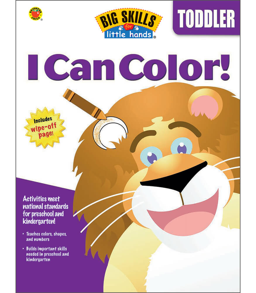 i can color workbook grade toddler
