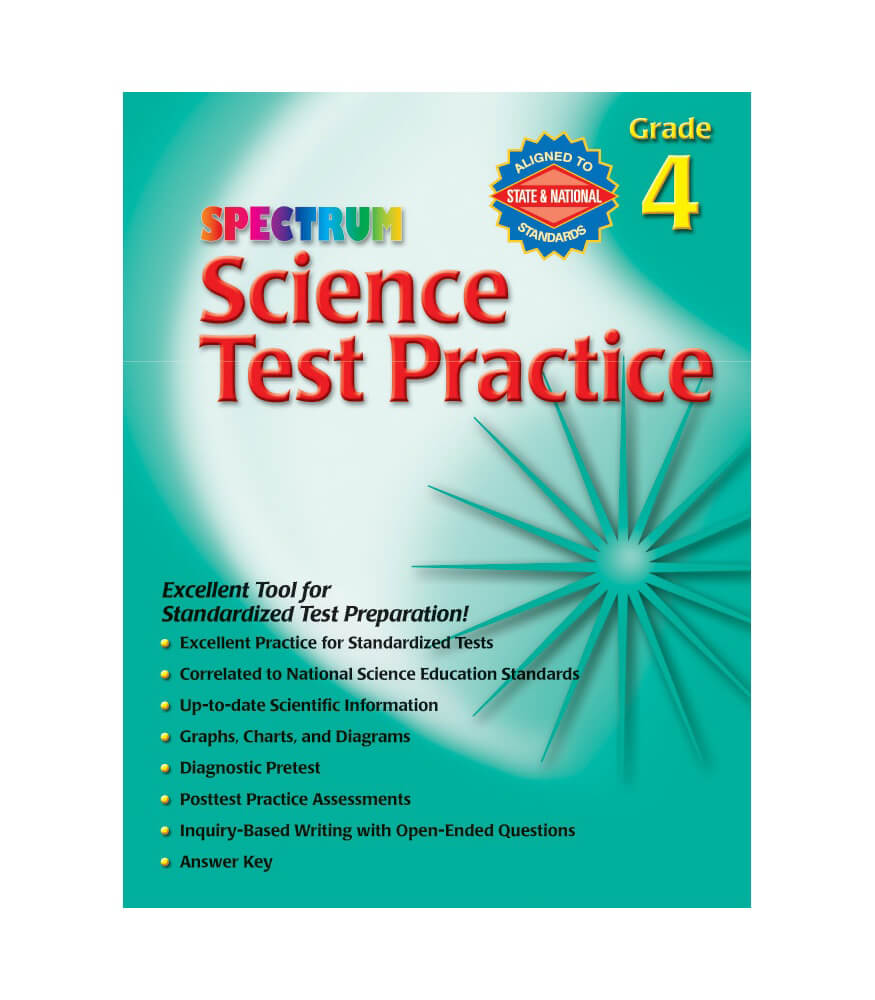 Science Test Practice Workbook Grade 4