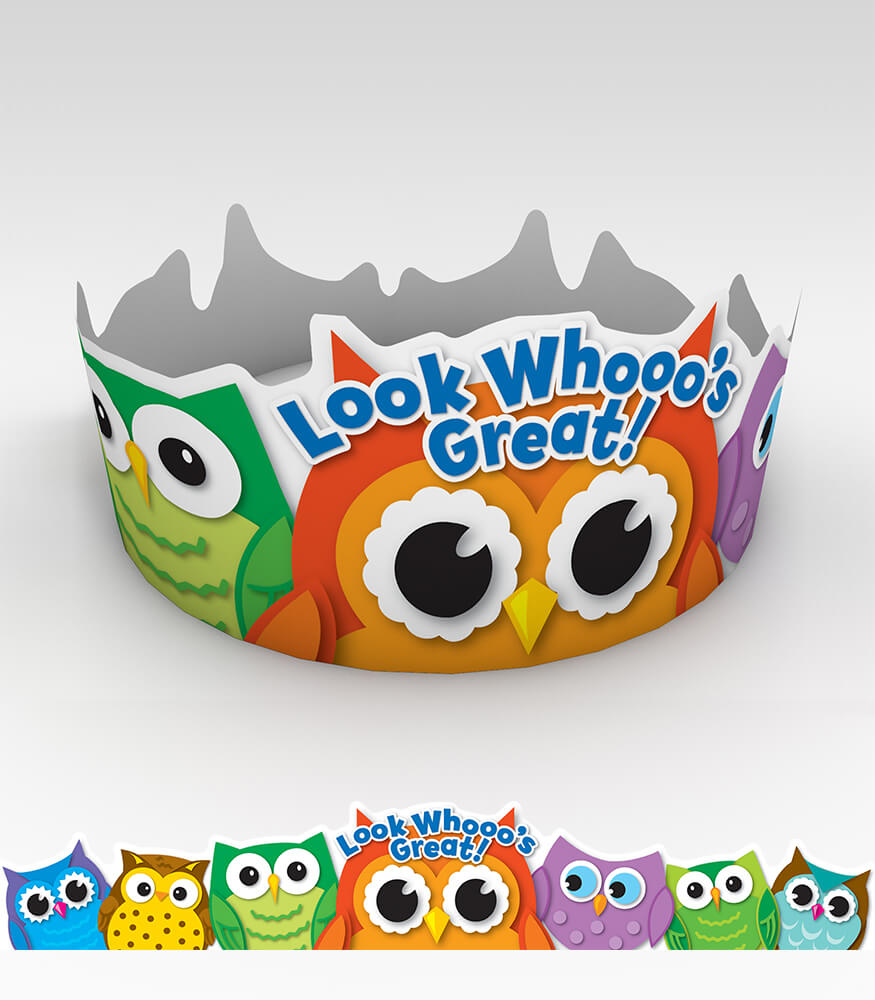 Colorful Owls Crowns Product Image