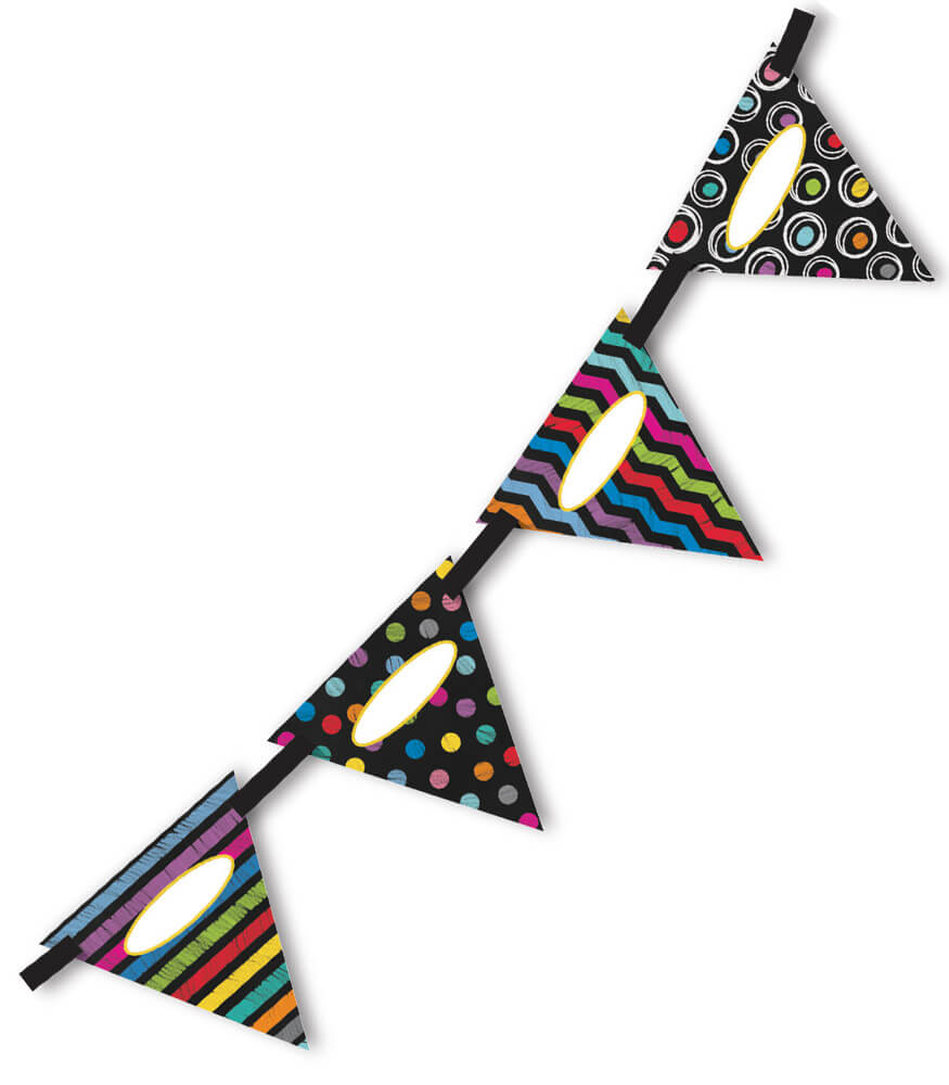 Colorful Chalkboard Bunting Product Image