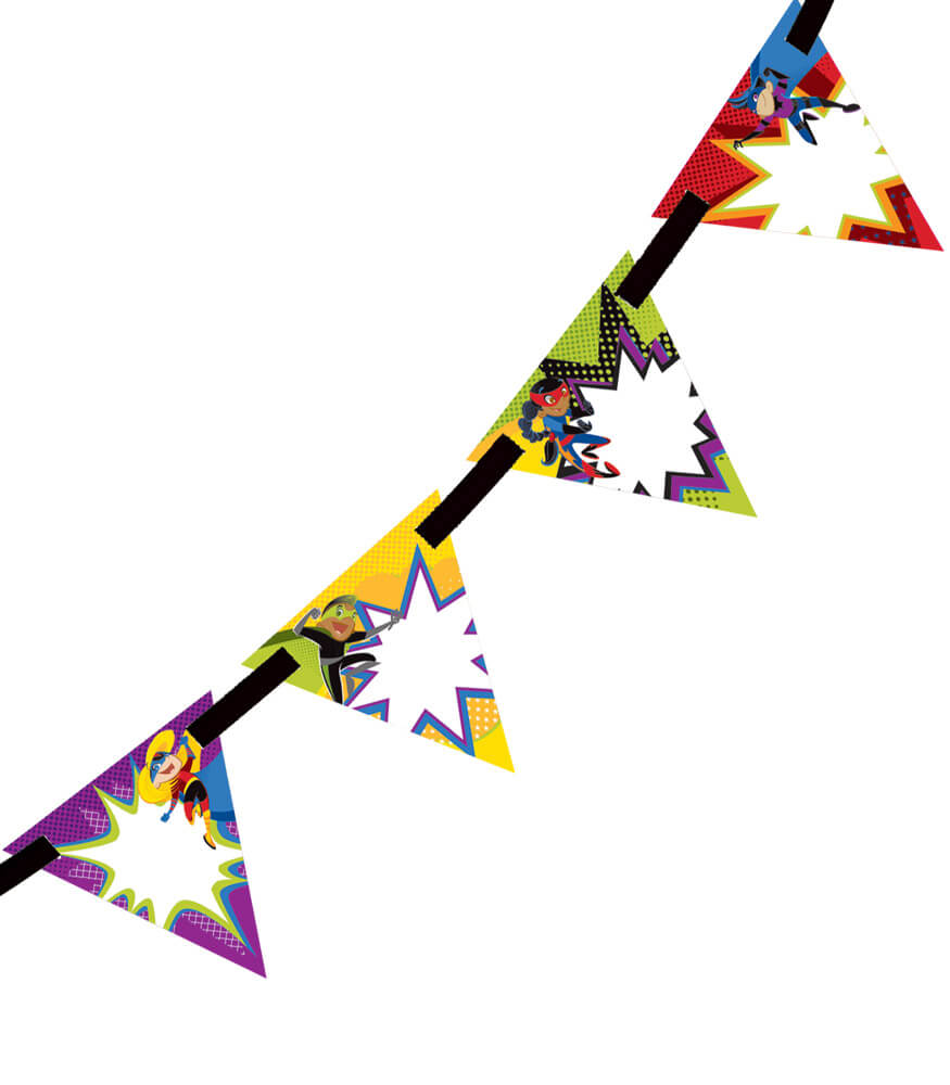 Super Power Bunting Product Image