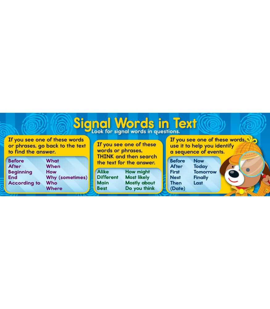 Signal Words Bookmarks Product Image