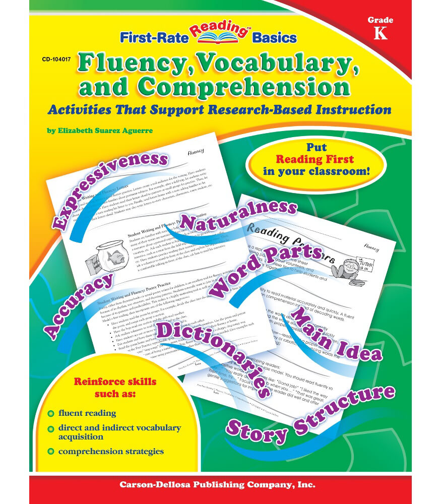 Fluency, Vocabulary, and Comprehension Resource Book Product Image