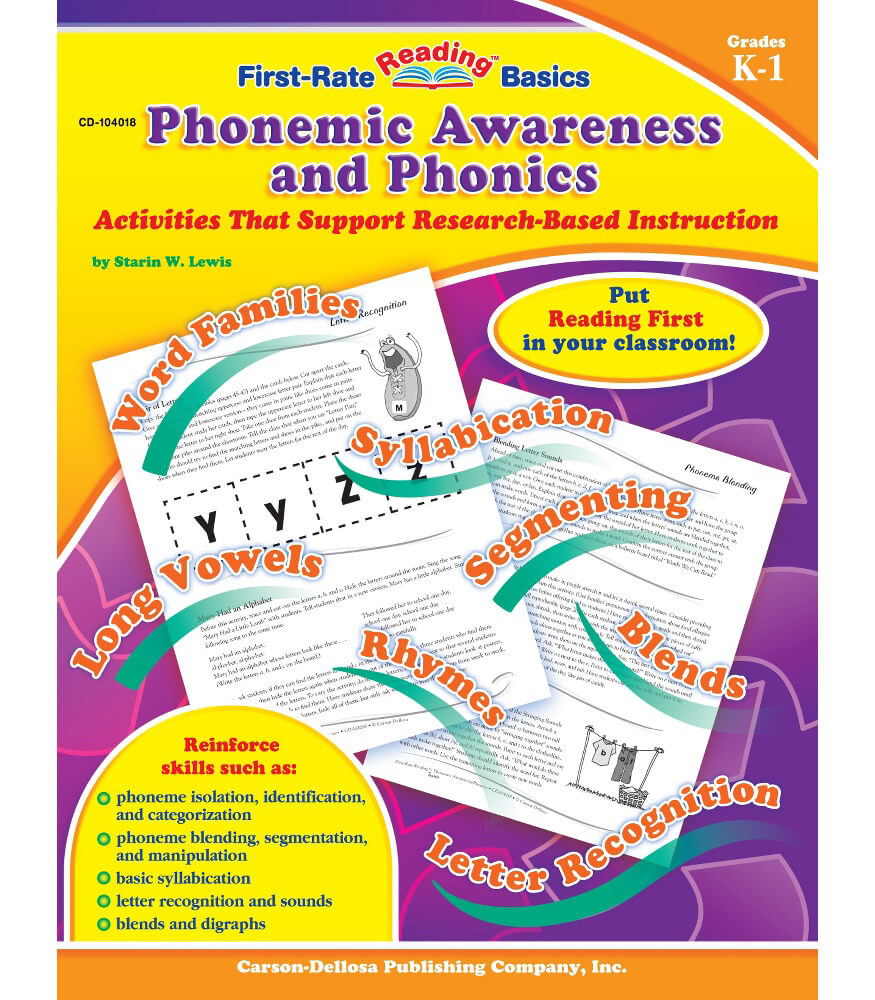 Phonemic Awareness and Phonics Resource Book Product Image
