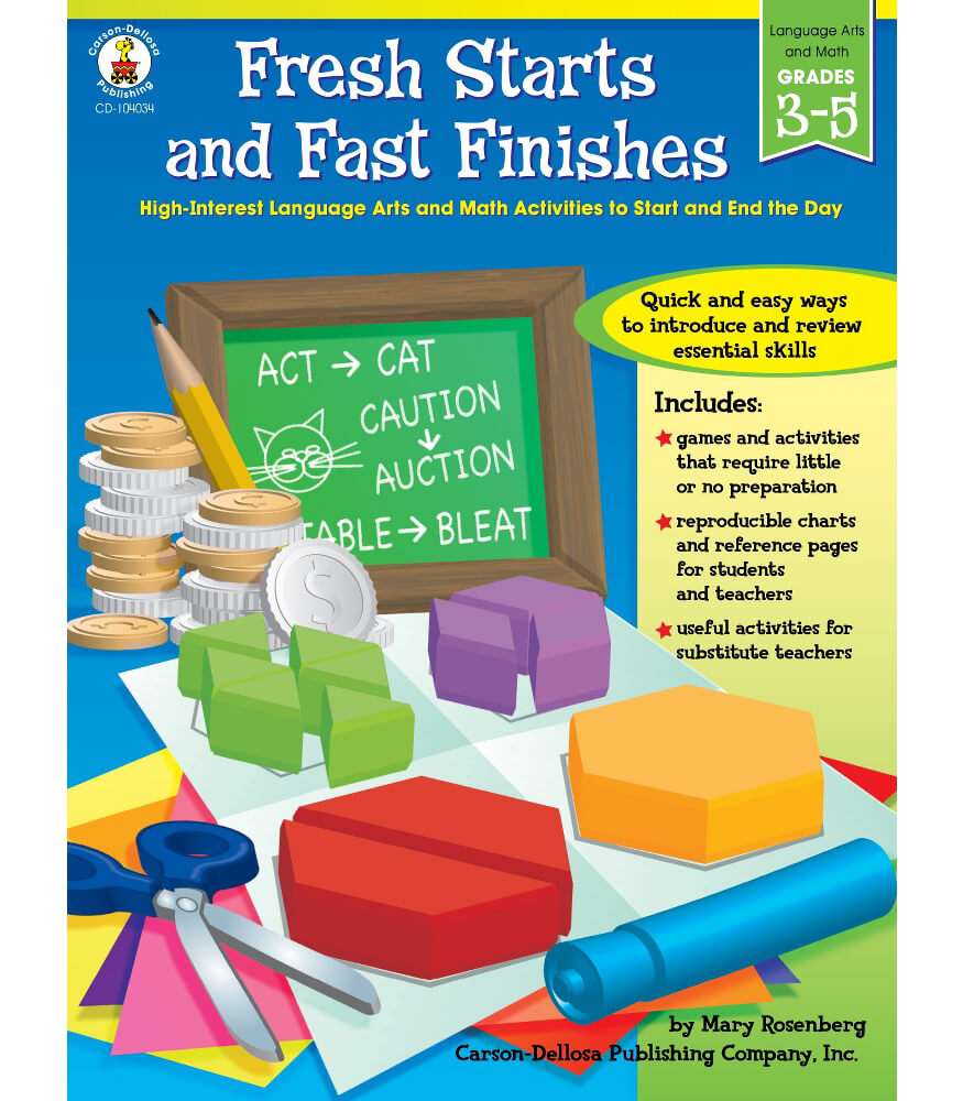 Fresh Starts and Fast Finishes Resource Book Product Image