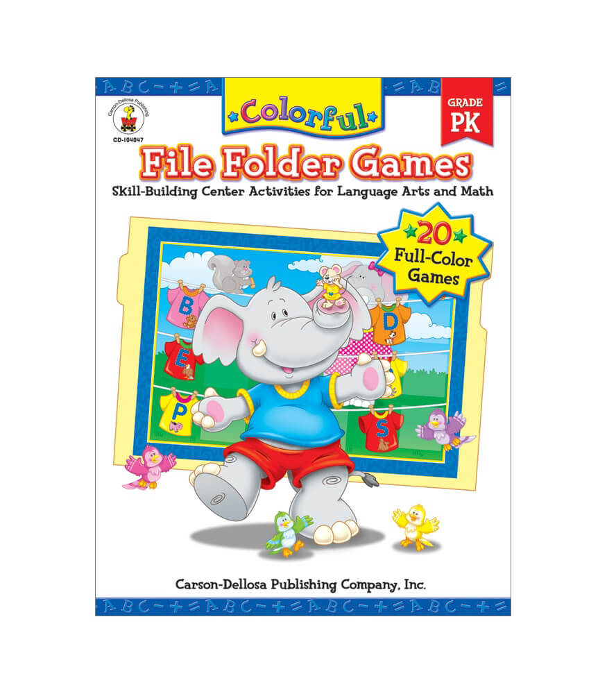 Colorful File Folder Games Resource Book Product Image
