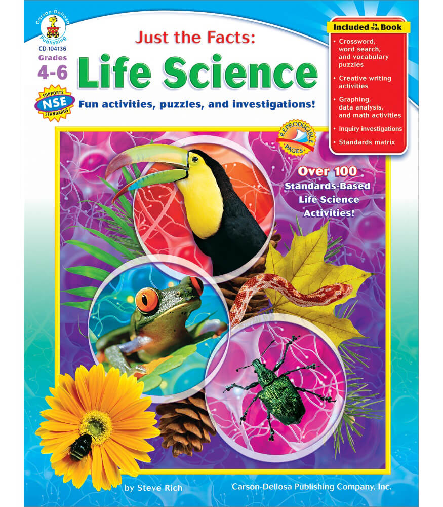 Just the Facts Life Science Resource Book Grade 4 6