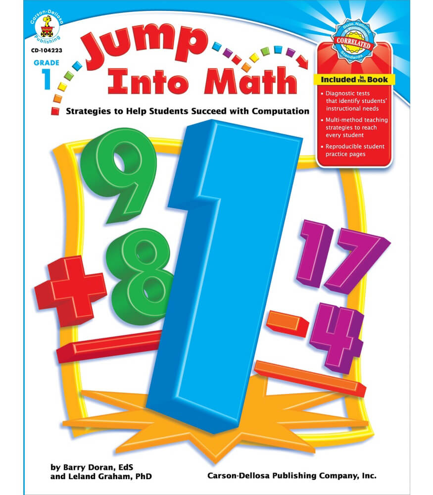Kids Maths Book Cover : Jump into math resource book grade