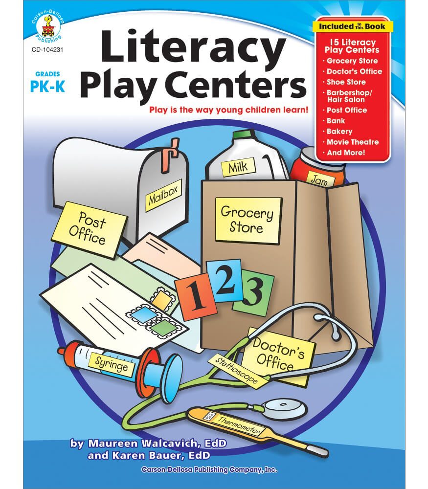 Literacy Play Centers Resource Book Product Image