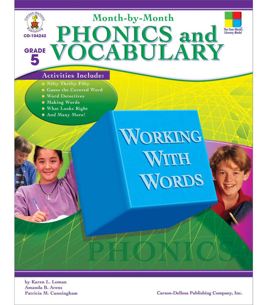 Month-by-Month Phonics and Vocabulary Resource Book Product Image