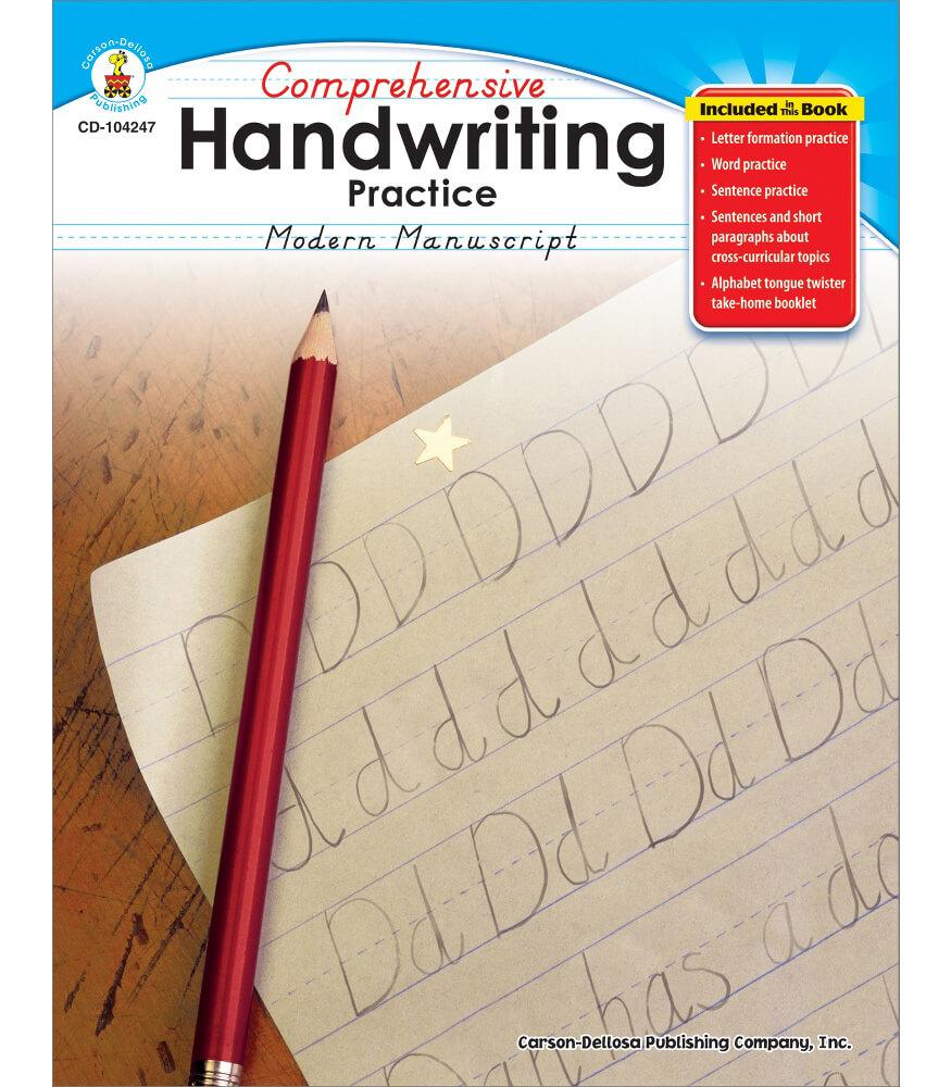 Comprehensive Handwriting Practice: Modern Manuscript Resource Book Product Image