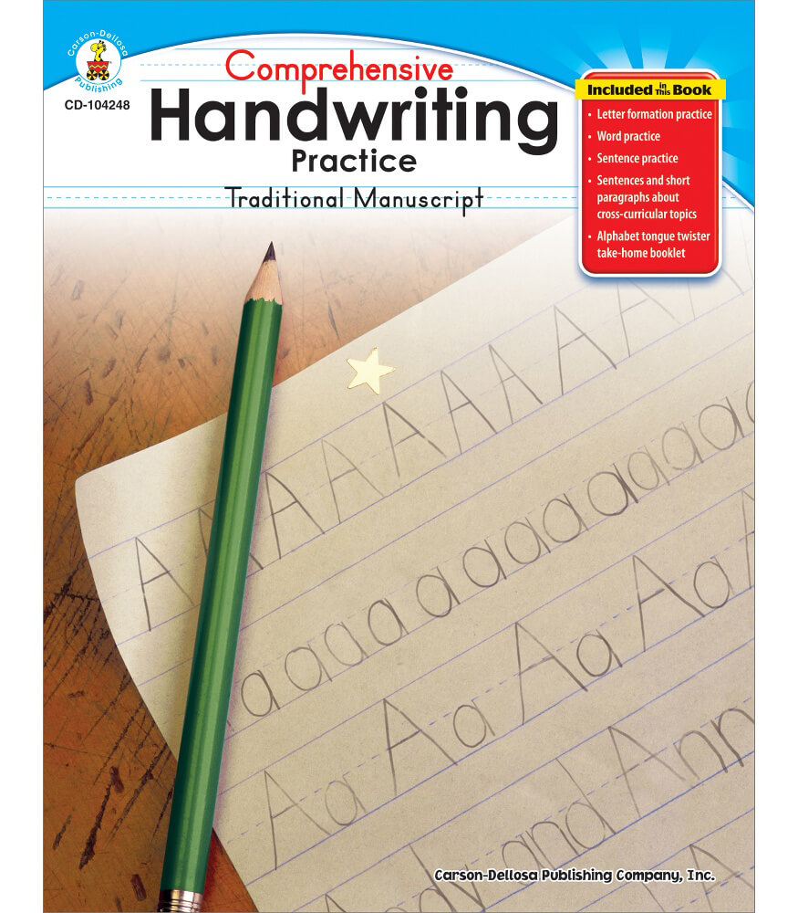 Comprehensive Handwriting Practice: Traditional Manuscript Resource Book Product Image