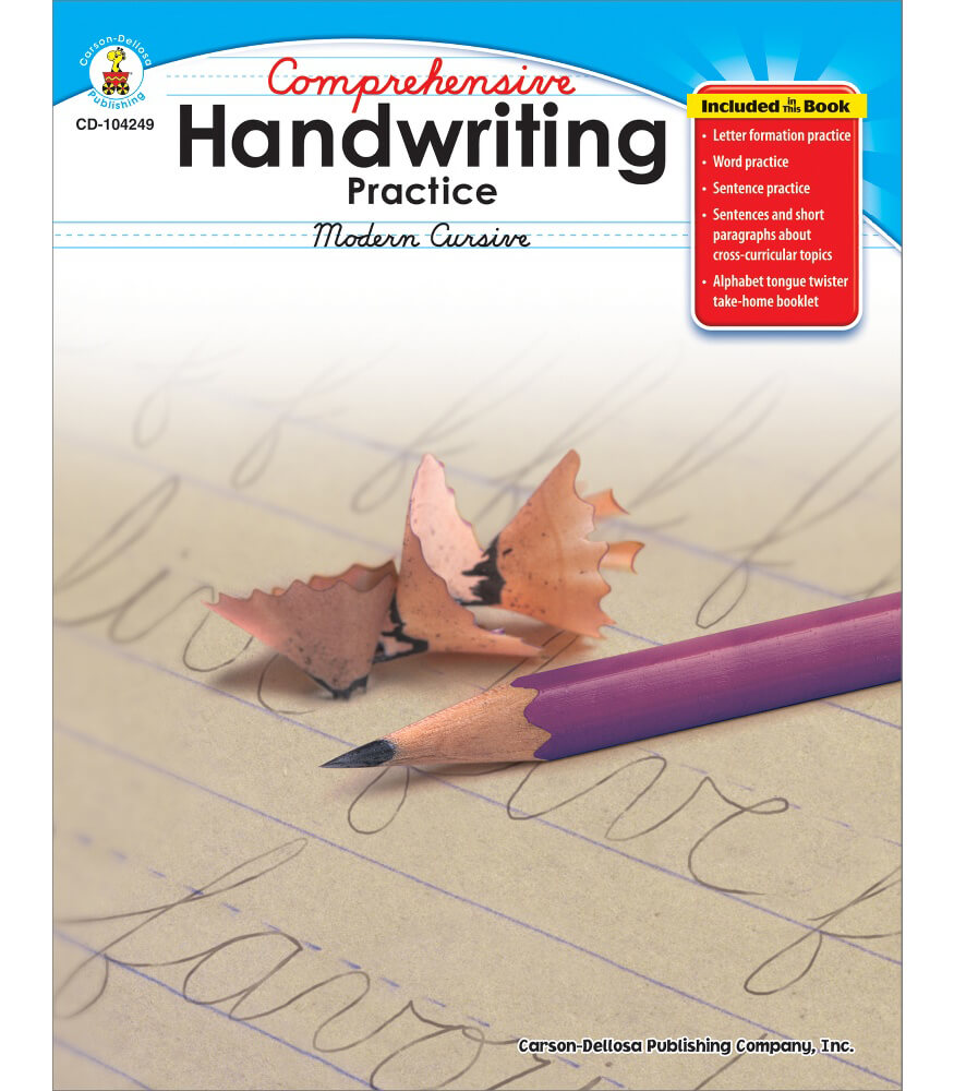 Comprehensive Handwriting Practice: Modern Cursive Resource Book Product Image