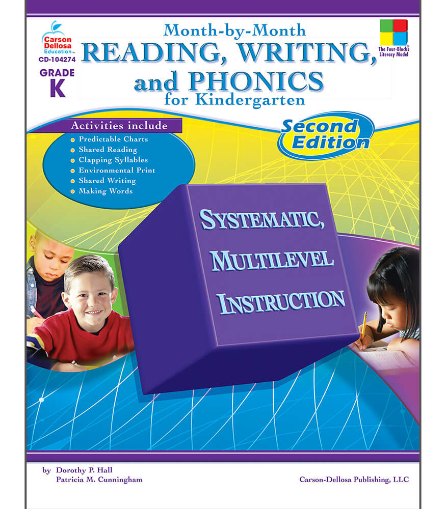 Month-by-Month Reading, Writing, and Phonics for Kindergarten Resource Book Product Image
