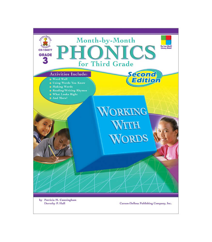 Month-by-Month Phonics for Third Grade Resource Book Product Image