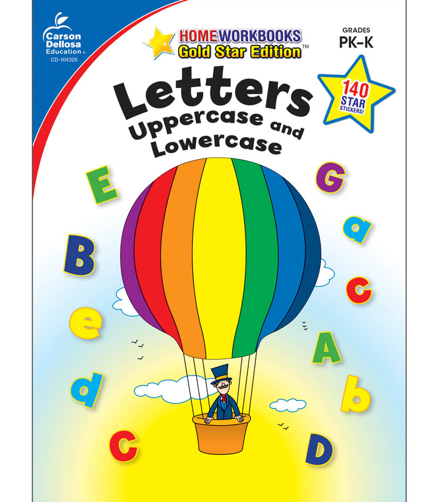 Letters: Uppercase and Lowercase Workbook Product Image