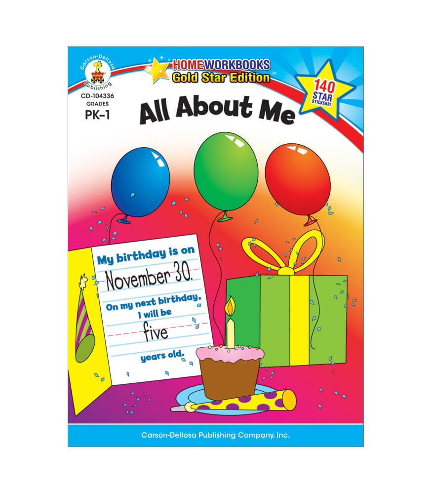 All About Me Workbook Product Image