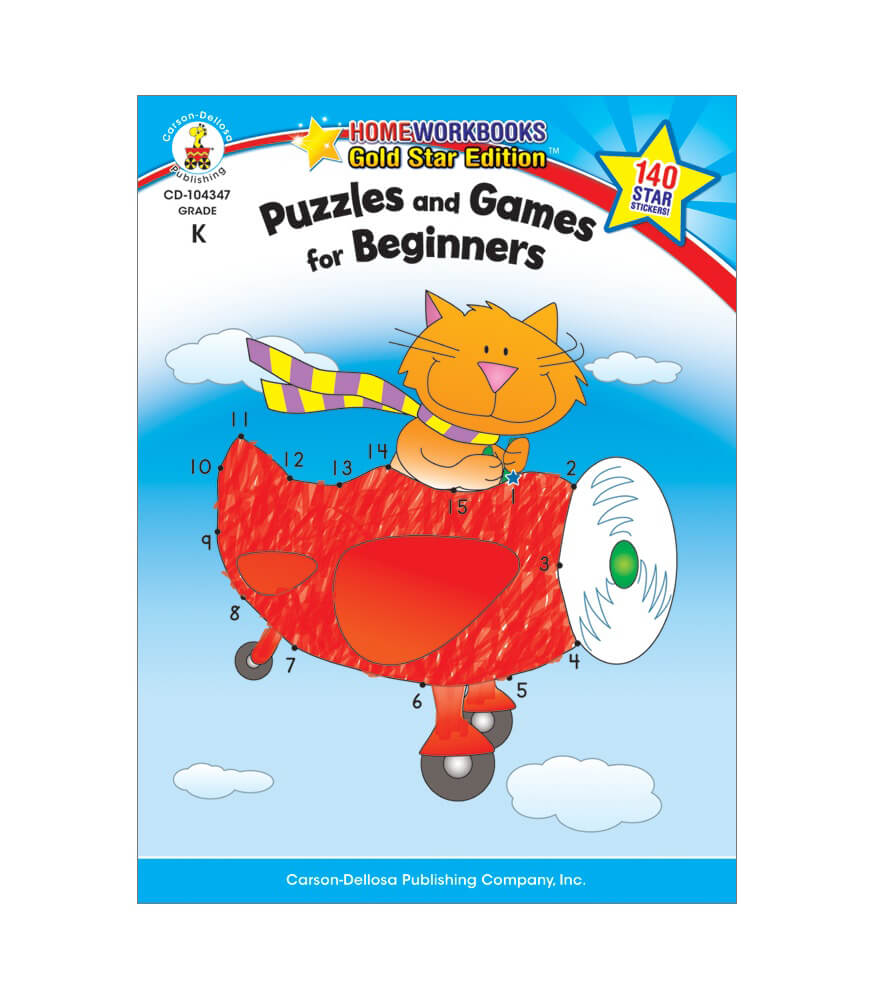 Puzzles and Games for Beginners Activity Book Product Image