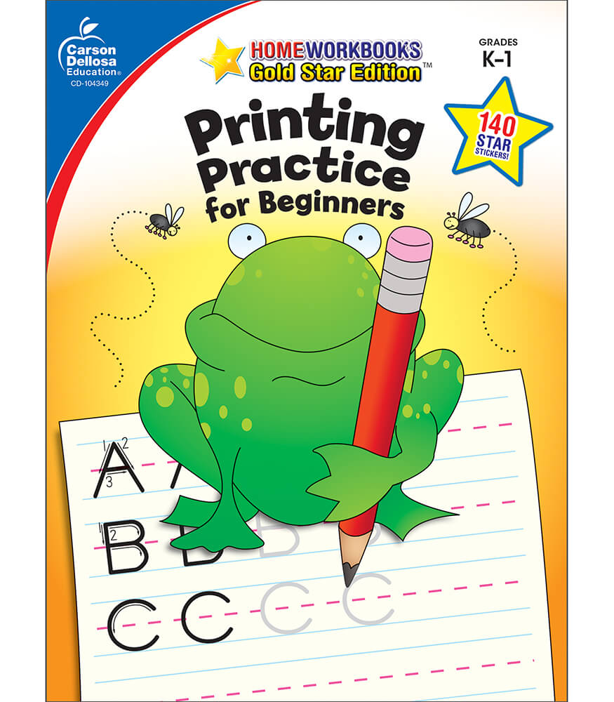 Printing Practice for Beginners Workbook Product Image