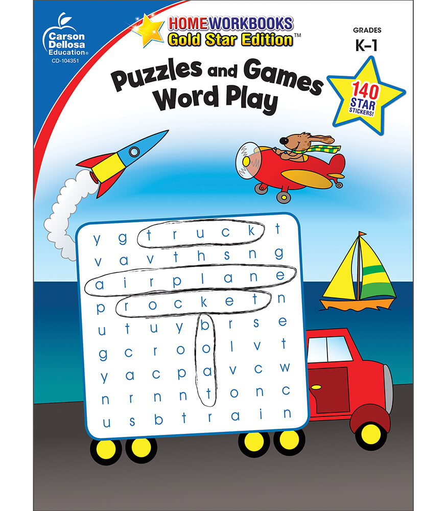 Puzzles and Games: Word Play Activity Book Product Image