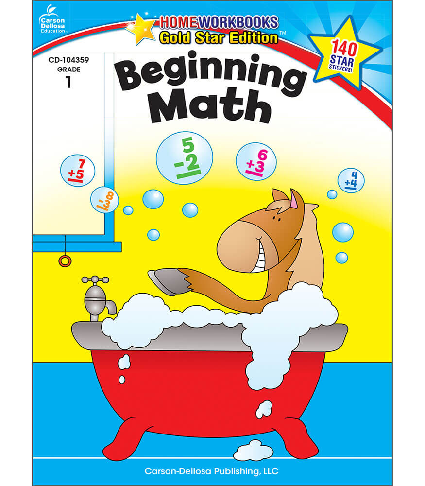 Beginning Math Workbook Grade 1