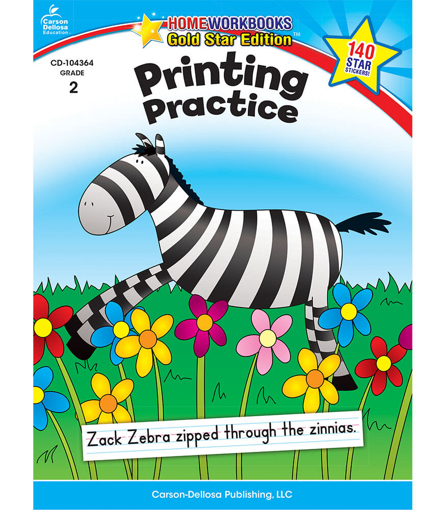 Printing Practice Workbook Product Image