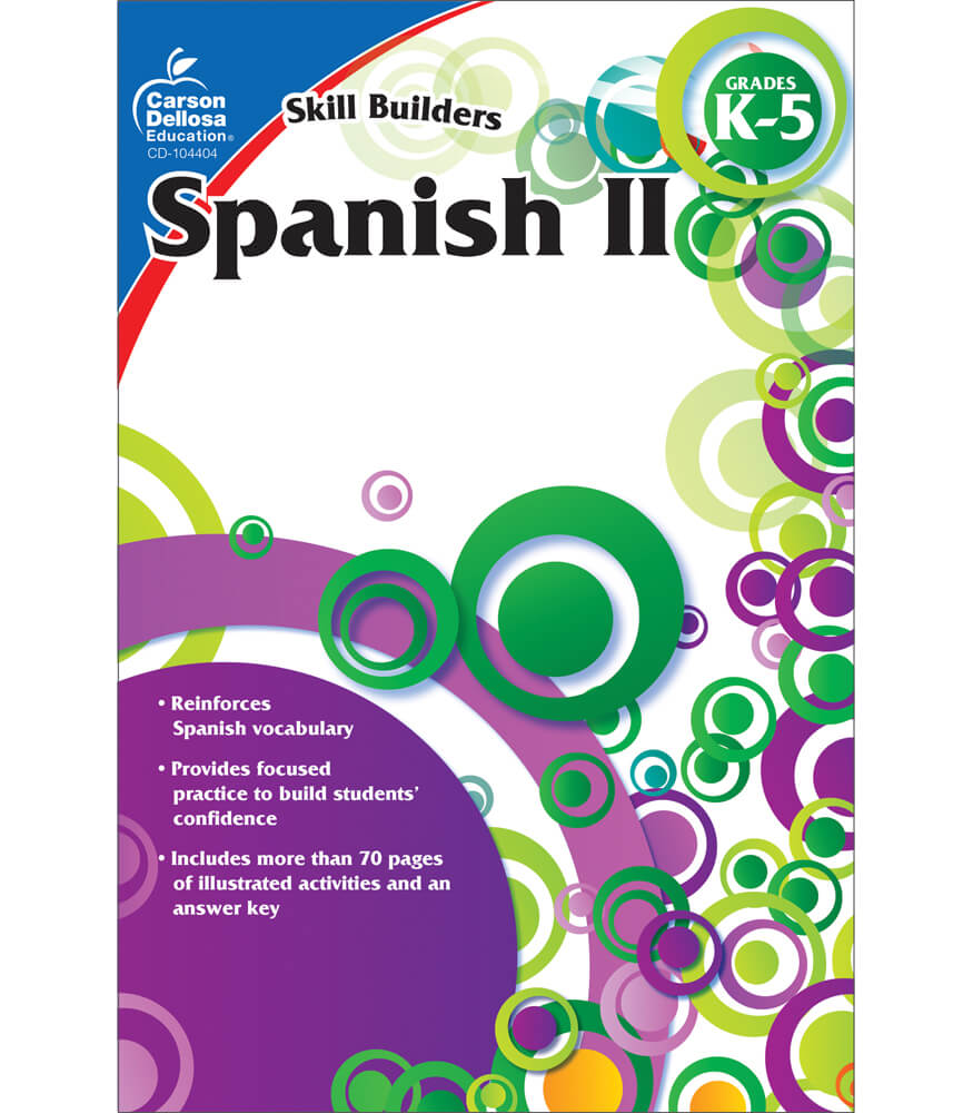 Worksheets Carson-dellosa Worksheets spanish ii workbook grade k 5 carson dellosa publishing workbook