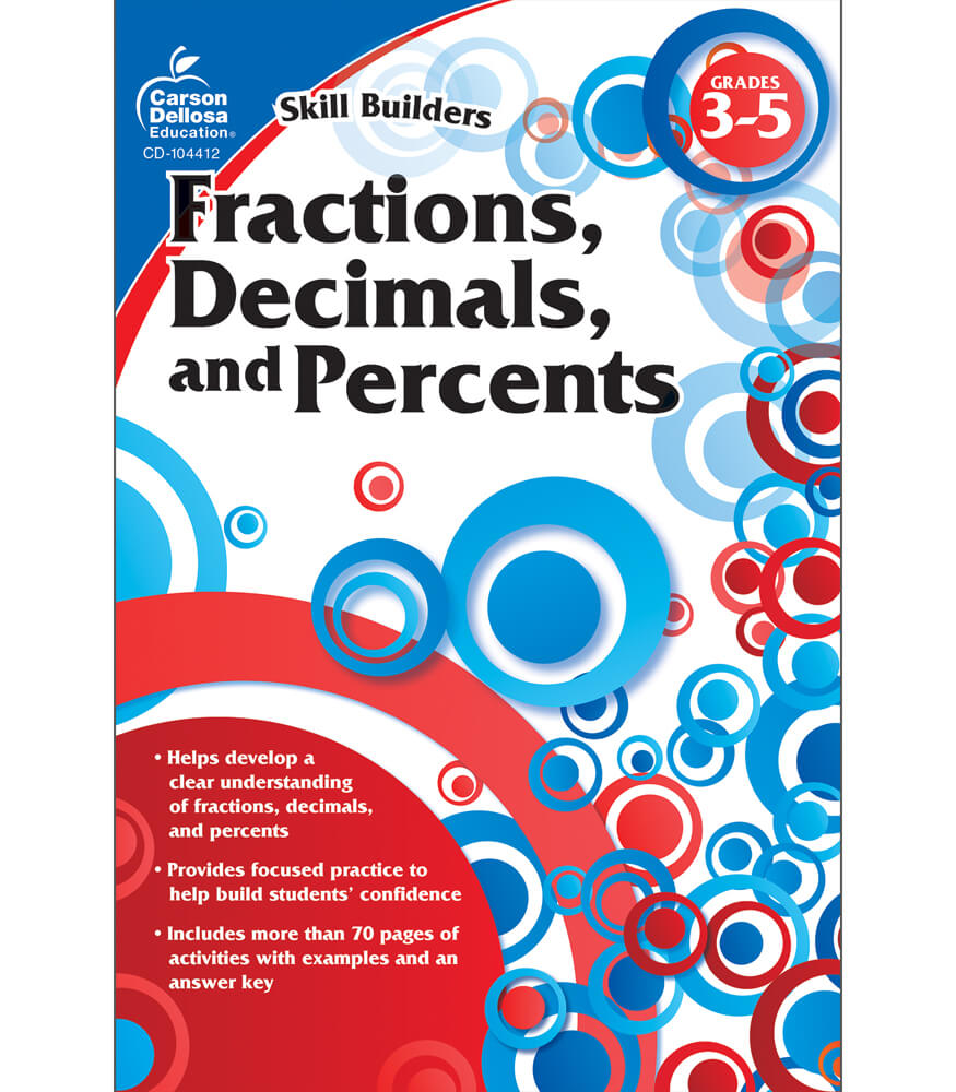 Fractions, Decimals, and Percents Workbook Product Image