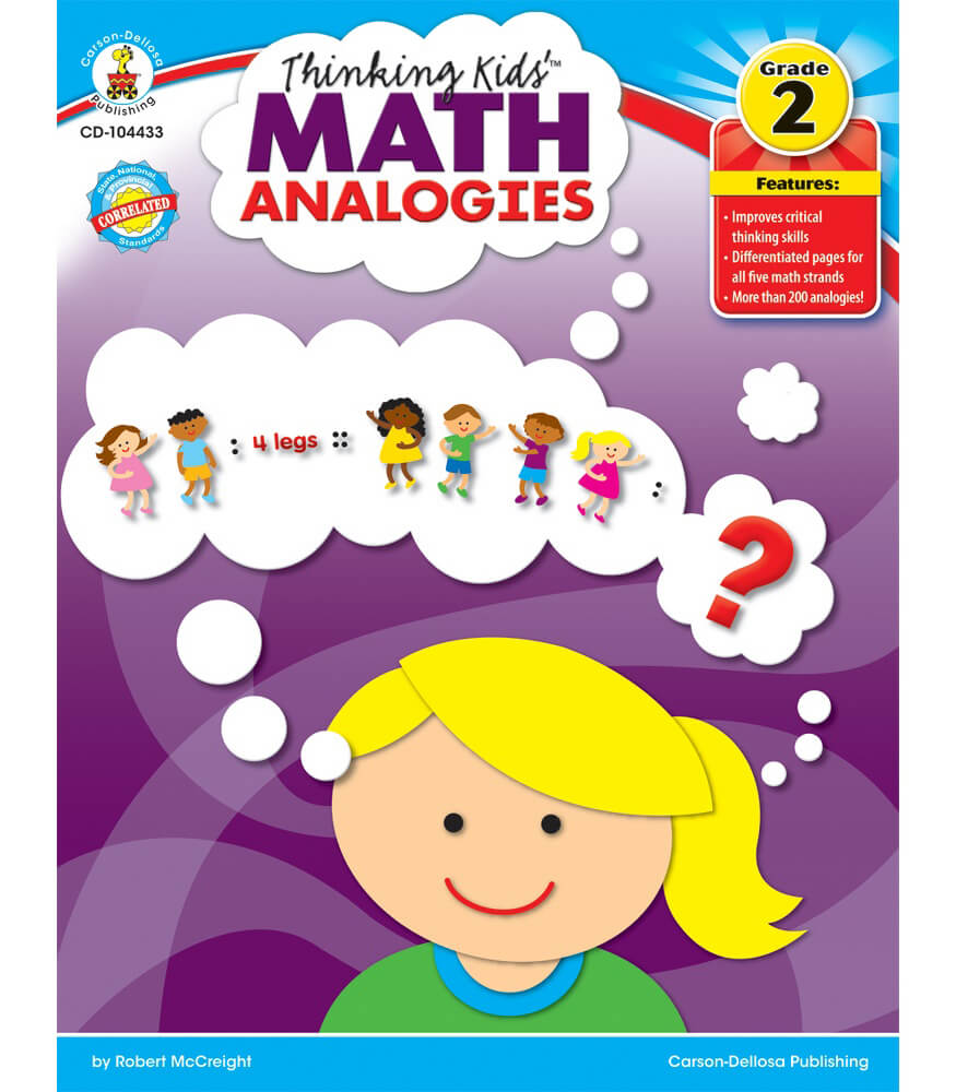 thinking kids'™ math analogies resource book grade 2