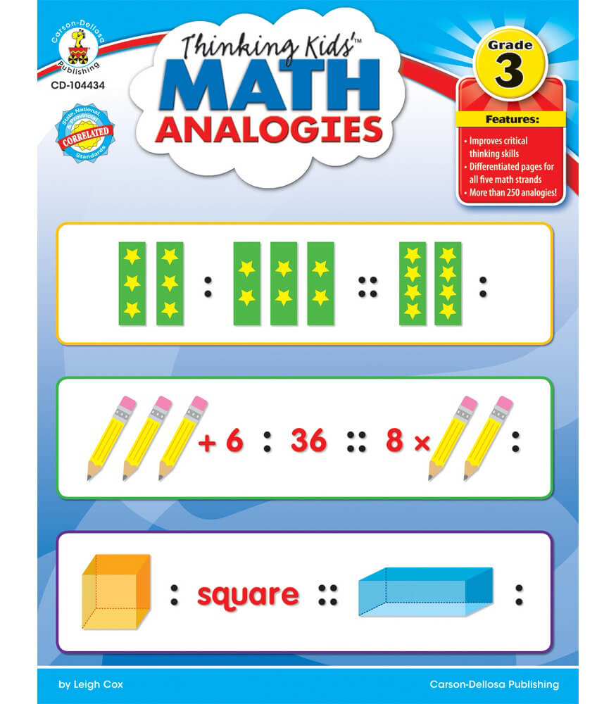 thinking kids'™ math analogies resource book grade 3