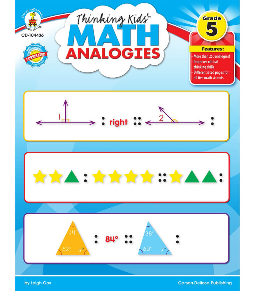 Thinking Kids'™ Math Analogies Resource Book Product Image