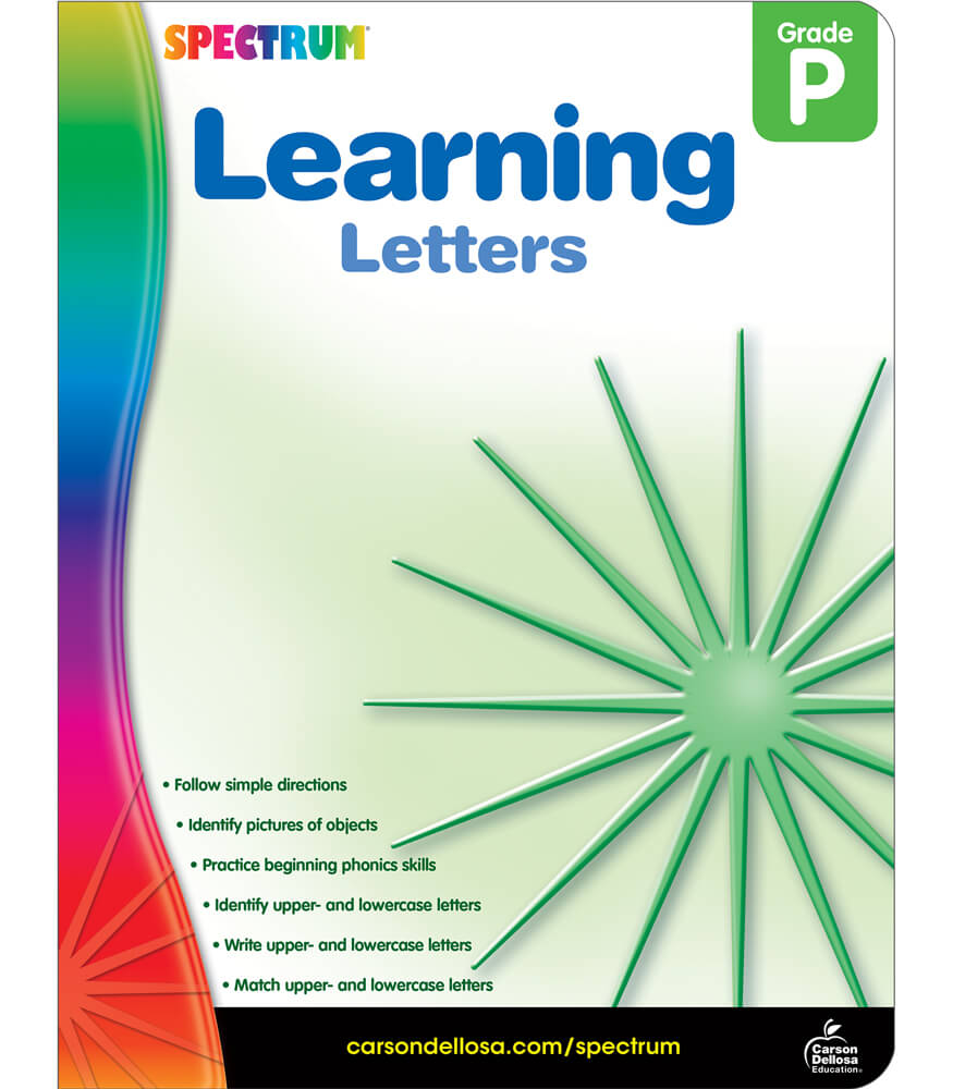 Learning Letters Workbook Product Image