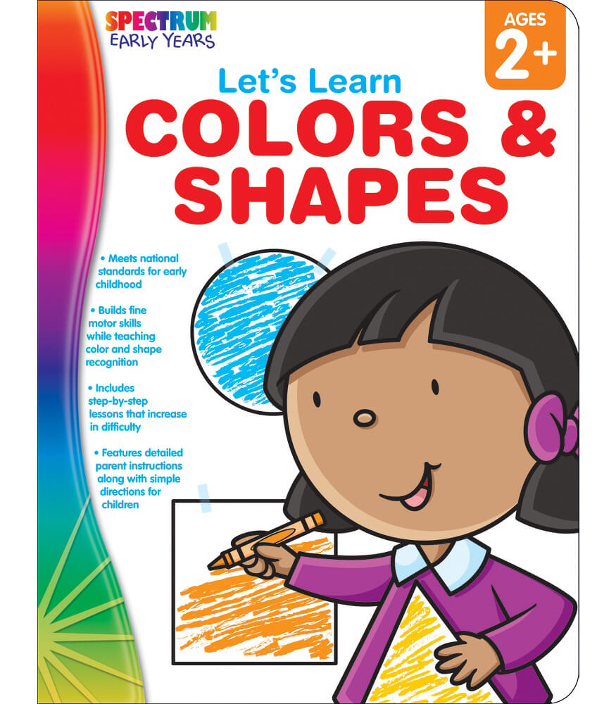 Let's Learn Colors & Shapes Workbook Product Image