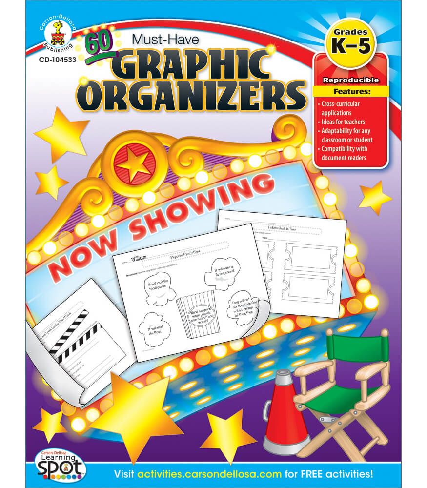 60 Must-Have Graphic Organizers Resource Book Product Image