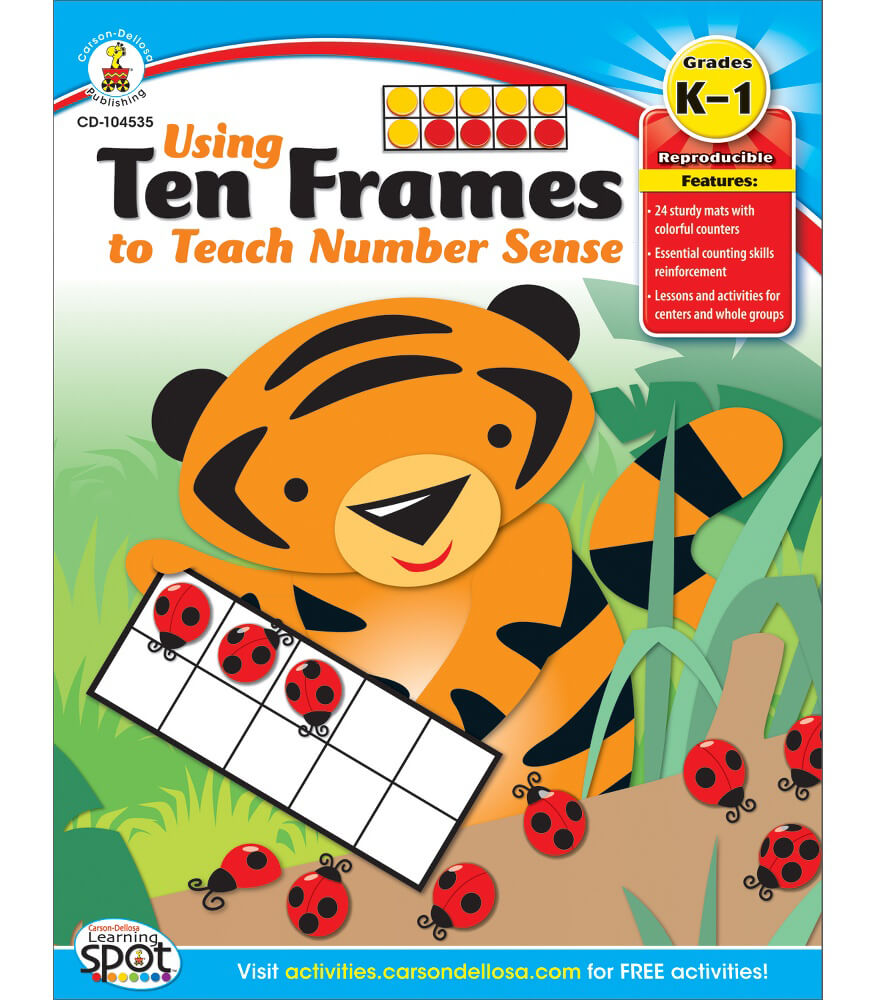 Using Ten Frames to Teach Number Sense Resource Book Product Image